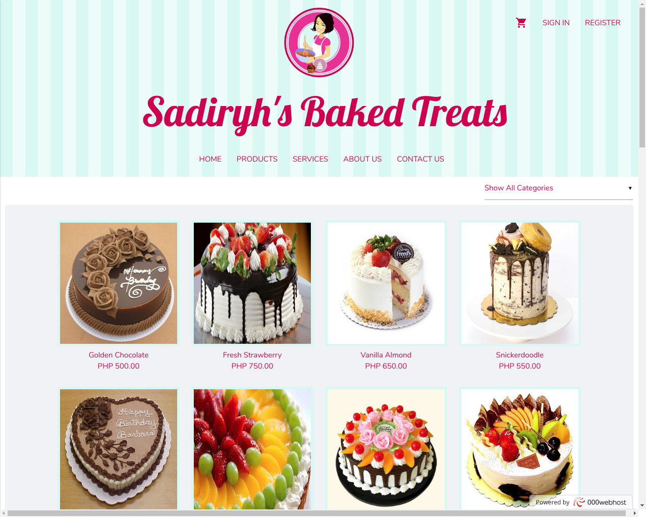 Sadiry's Baked Treats, Created by Arjay